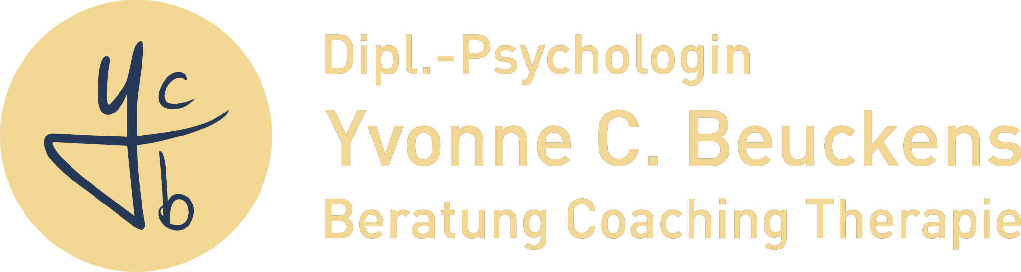 Logo Y.Beuckenes gold marine bg remove